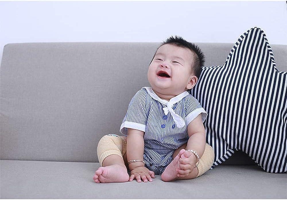 Amasawa 5 Paia Ginocchiere per Neonati Ginocchiere per Gattonare Antiscivolo Cotone Unisex Ginocchiere Neonato Ginocchiere per Bambini