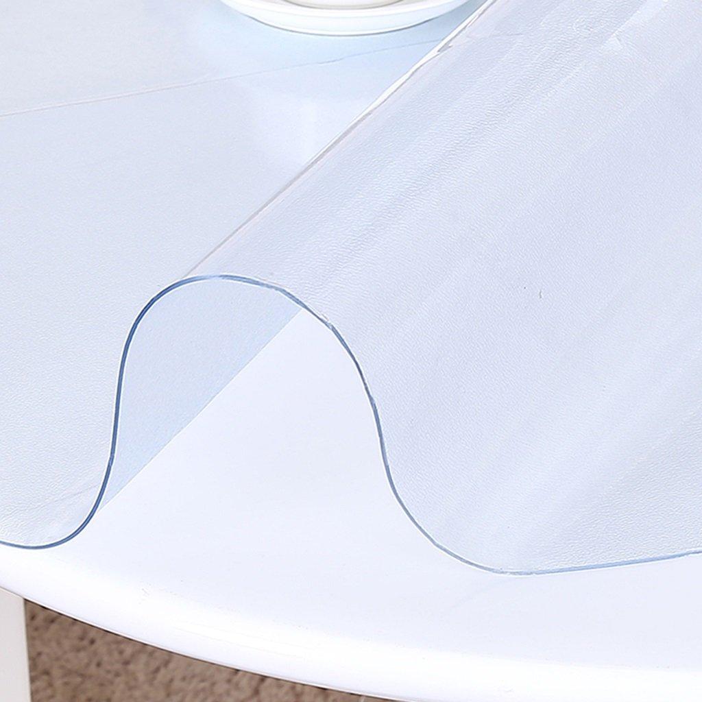 Küchenwäsche Muster runde Tischdecke, PVC weiches Glas runde Tischdecke wasserdichte Tischdecke Tischdecke rutschfeste Kristallplatte ( Farbe   Transparent 2.0mm , größe   Round 80cm ) B077X8P4Z4 Tischdecken Deutschland    Überlegen