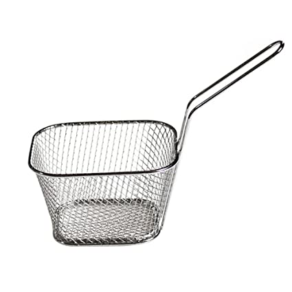BESTONZON Mini Frying Basket Stainless Steel Mesh French Chip Food Presentation Tableware Food Colander for Potatoes Chips