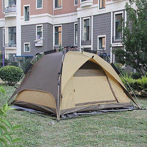 WZH Dual-Use-automatische im freien Doppelzimmer 3-4 camping Zelt wasserdicht-Speed-Laufwerk