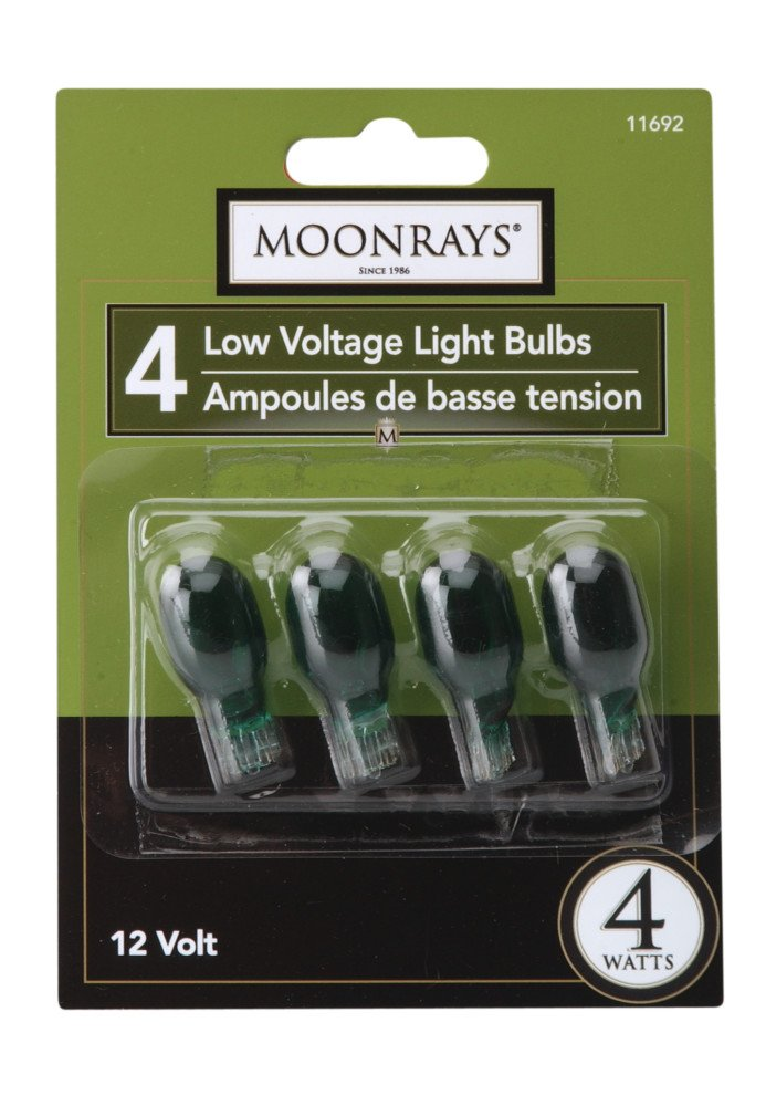 4-Pack Green Moonrays 11692 4-watt Wedge Base Light Bulbs