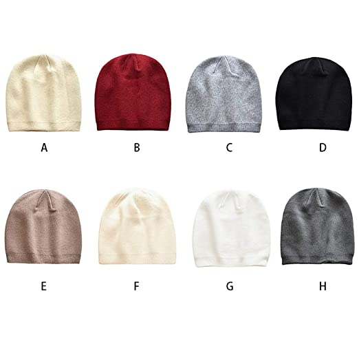 ad15b5dc68e Women Men Outdoor Warm Knit Wool Winter Stretch Slouchy Beanie Skull ...
