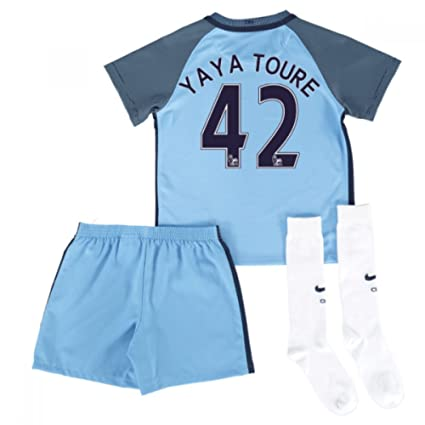 Image Unavailable. Image not available for. Color  UKSoccershop 2016-17 Man  City Home Mini Kit (Yaya Toure 42) 5137d19b4