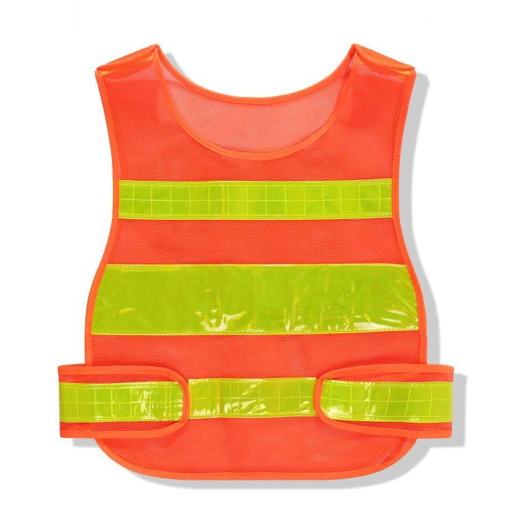 High-Energy Visibility Vest Reflective Safety Overalls Night Warning Safety Service Night Running Bicycle Road Construction Personnel (Color : Pink) HUANDGA