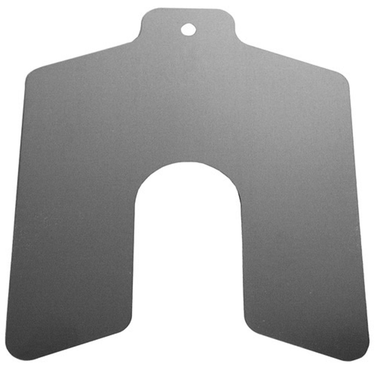Stainless Steel Slotted Shim, Unpolished (Mill) Finish, 0.005'' Thickness, 5'' Width, 5'' Length (Pack of 20) by Small Parts