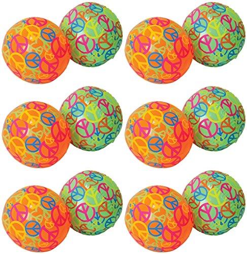 Beach Ball Yard Sign - 12- Peace Sign Beachballs 16 inch Beach balls