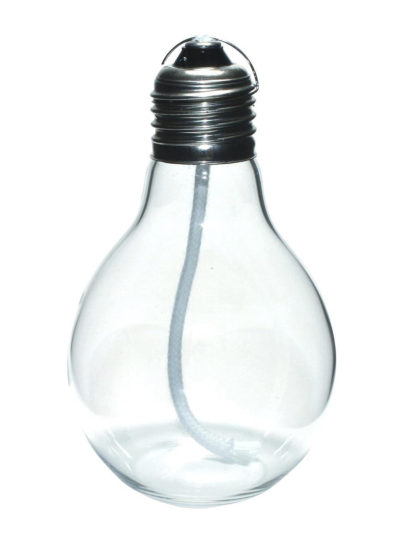 GlasXpert Lampe à Huile Edison ölkerze en Forme d'ampoule Verre, Transparent, 7x 7x 11cm CIPIN GLAS S0129