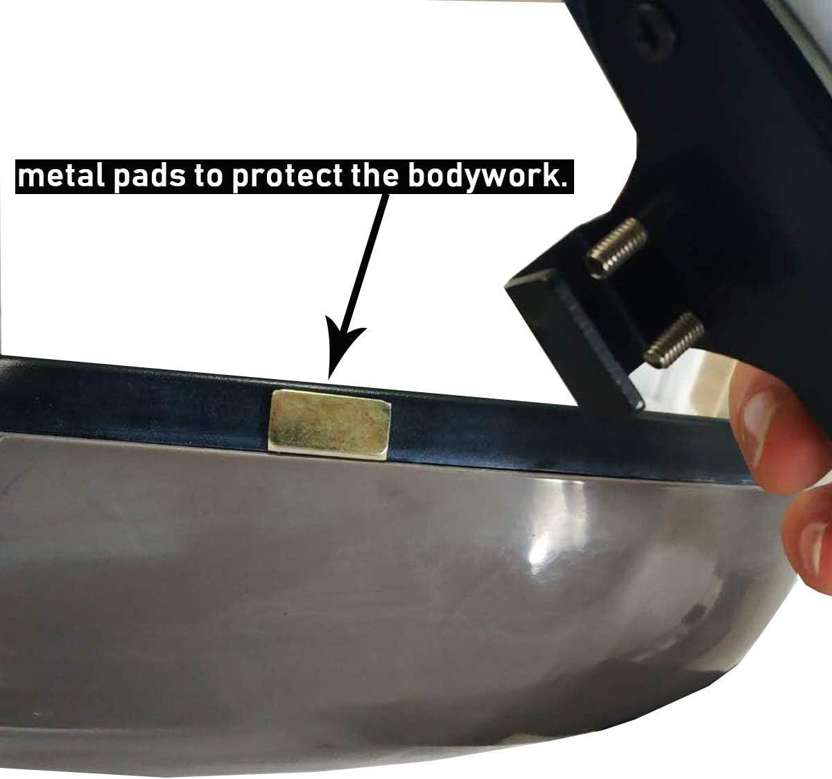 2 Pcs-Retrovisores-Negro WildAuto Espejos de Punto Ciego Espejo Retrovisor Exterior Coche Espejo Retrovisor Apto Para Todo Tipo de Veh/ículos