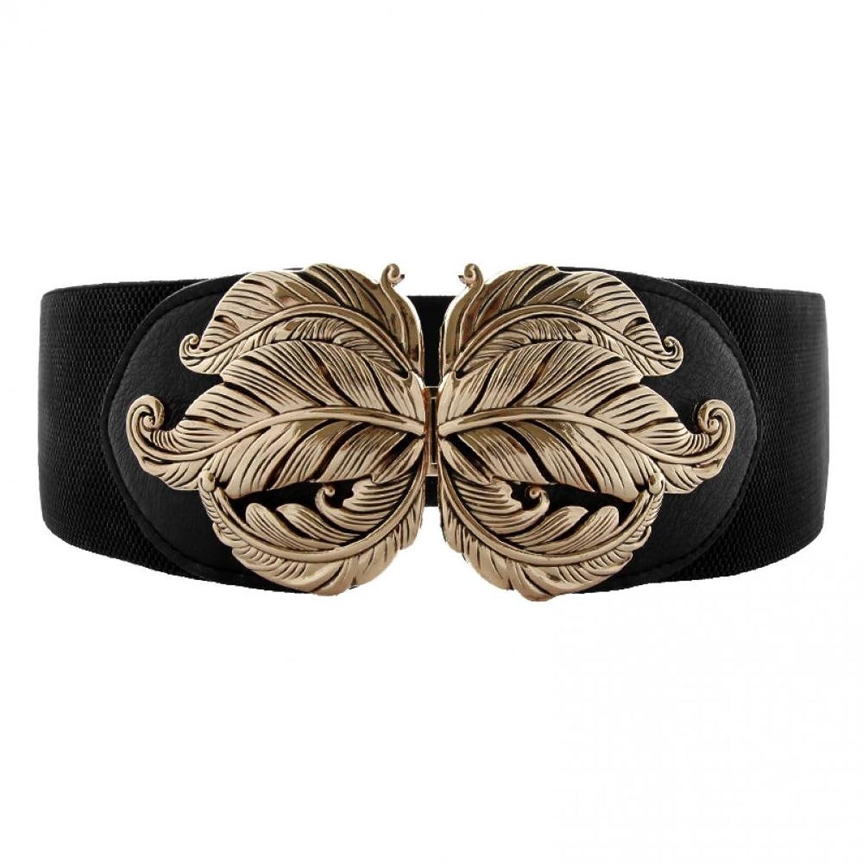 Vintage Retro Belts Retro Wide Metal Interlock Buckle Womens Elastic Waist Belt Cinch $10.99 AT vintagedancer.com