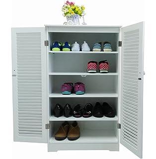 Homecharm Intl 23.6x12.8x39.8 Inch Storage Cabinet,2 Louvered