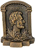 Design Toscano Abraham Lincoln Cast Iron Sculptural Bookends, Bronze