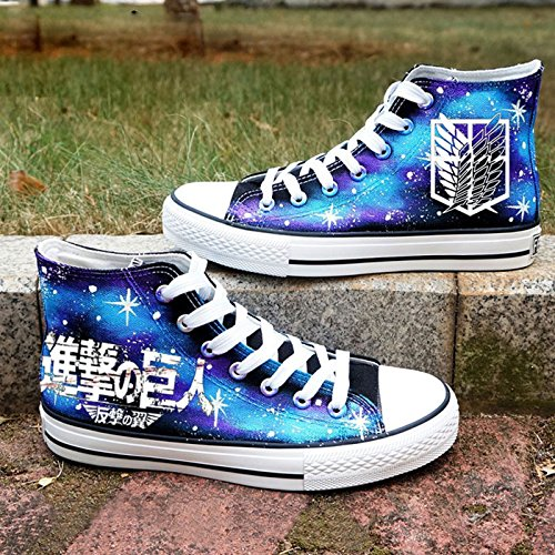 Angriff auf Titan Shingeki keine Kyojin Cosplay Schuhe Canvas Schuhe Turnschuhe leuchtend Blau