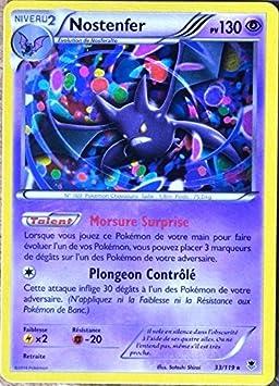 carte pokemon vigueur spectrale carte Pokémon 33/119 Nostenfer 130 PV RARE XY04 Vigueur spectrale