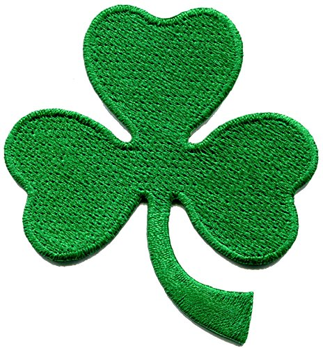 3 leaf clover three St. Patrick's Day irish shamrock embroidered applique iron-on patch new Leaf Embroidered Patch