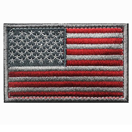 Recognition Devices,Promisen® New-glory Morale Tactical US Flag Patch Embroidery Armband (Heart Flag Embroidery)