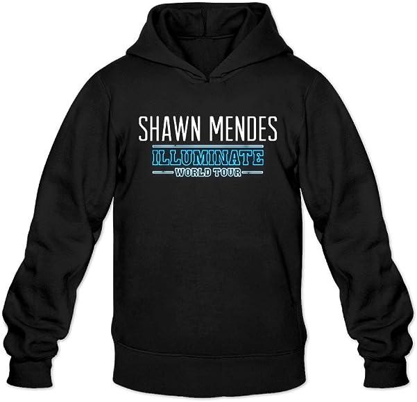 eb2e9b9b Amazon.com: Men's Shawn Mendes Illuminate World Tour Fashion Sweatshirt  Hoodie: Clothing