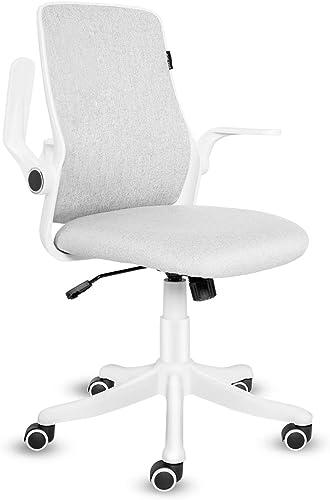 FULLWATT Office Chair Mid-Back Ergonomic Computer Desk Chair Swivel Adjustable Study Chair