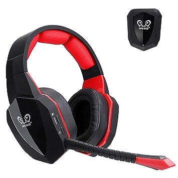 CITW Auriculares Estéreo De Sonido Envolvente Auriculares De 2,4 GHz para Juegos Inalámbricos Ópticos