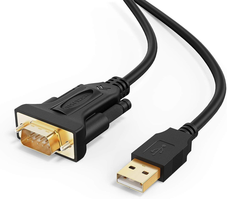 Cablecreation Usb Auf Rs232 Seriell Kabel 3m Vergoldet Computer Zubehör