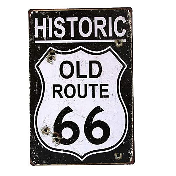 WallAdorn Historic Old Route 66 - Cartel de Hierro para ...