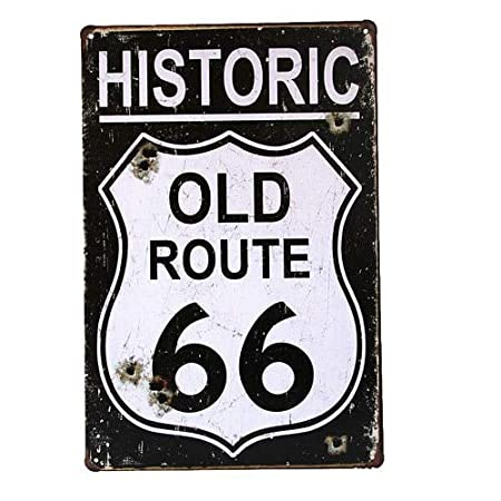 WallAdorn Historic Old Route 66 - Cartel de Hierro para ...