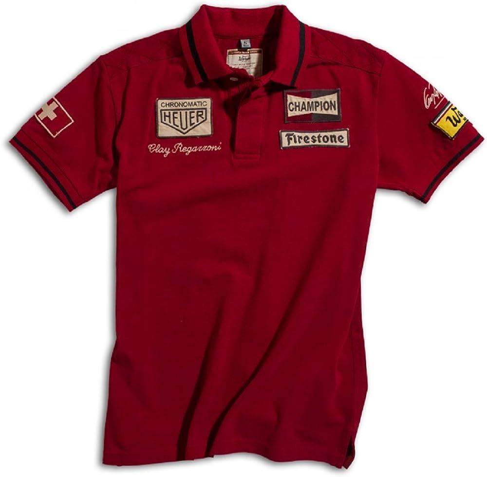 Warson Motors Polo Clay Regazzoni Men: Amazon.es: Ropa y accesorios