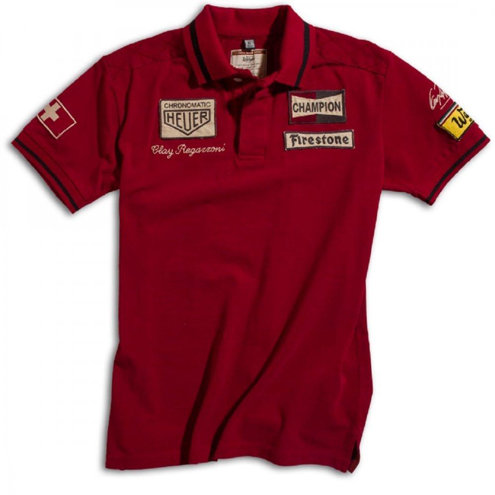 Rouge XXL Warson Motors Hommes De Polo Clay Regazzoni