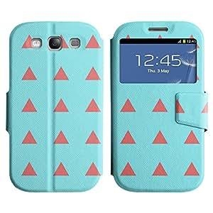 LEOCASE patrón de triángulo Funda Carcasa Cuero Tapa Case Para Samsung Galaxy S3 I9300 No.1007243