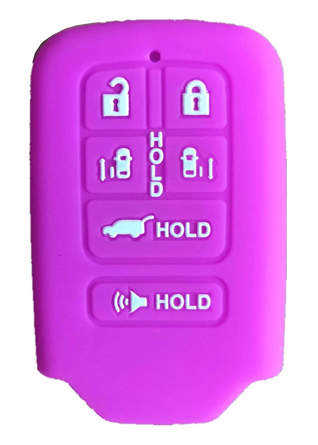 KAWIHEN Silicone Key Fob Cover Protector Smart Remote Keyless Entry Case Holder For 2014 2015 2016 2017 Honda Odyssey 6 button KR5V1X A2C83158300