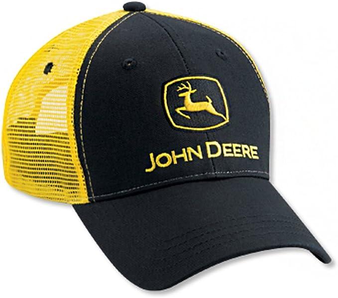 John Deere Gorro de Malla Negro/Amarillo: Amazon.es: Ropa y accesorios