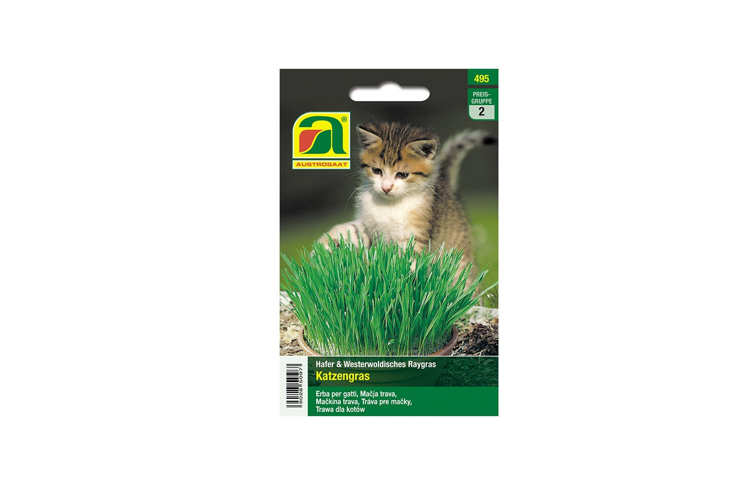 Cat Grass | Oats & Westerwoldish Raygras | This Pack is Enough for an Incredible 10 flowerpots with 10 cm Diameter Austrosaat