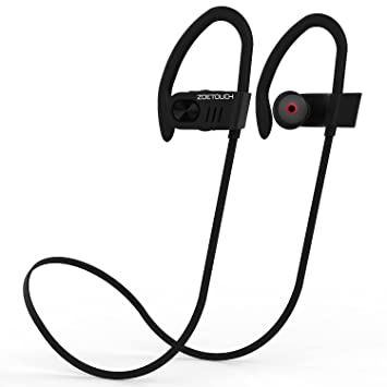 Auriculares Bluetooth ZOETOUCH Auriculares inalámbricos Bluetooth 4.1 Auriculares Deportivos con micrófono, cancelación de Ruido, Feather Light para iPhone, ...