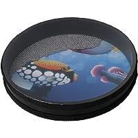 BQLZR Instrumento de percusión de 25,4 cm con diseño de peces para niños