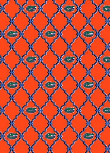 UNIVERSITY OF FLORIDA GATORS 100% COTTON FABRIC-TRELLIS DESIGN-NEWEST - Fabric Gators