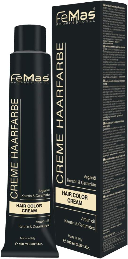 Femmas Hair Color Cream - Tinte para el cabello (100 ml, con aceite de argán, queratina y ceramida)