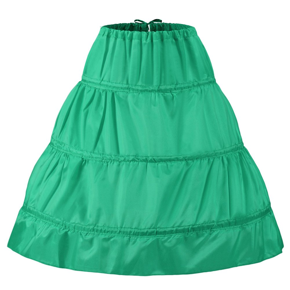 Noriviiq Kinder Reifrock A Linie 3 Ringe Petticoat Unterrock M/ädchen Lang Prinzessin Kleid Halb Slip