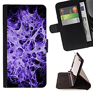BETTY - FOR LG OPTIMUS L90 - Purple Web Blast - Style PU Leather Case Wallet Flip Stand Flap Closure Cover