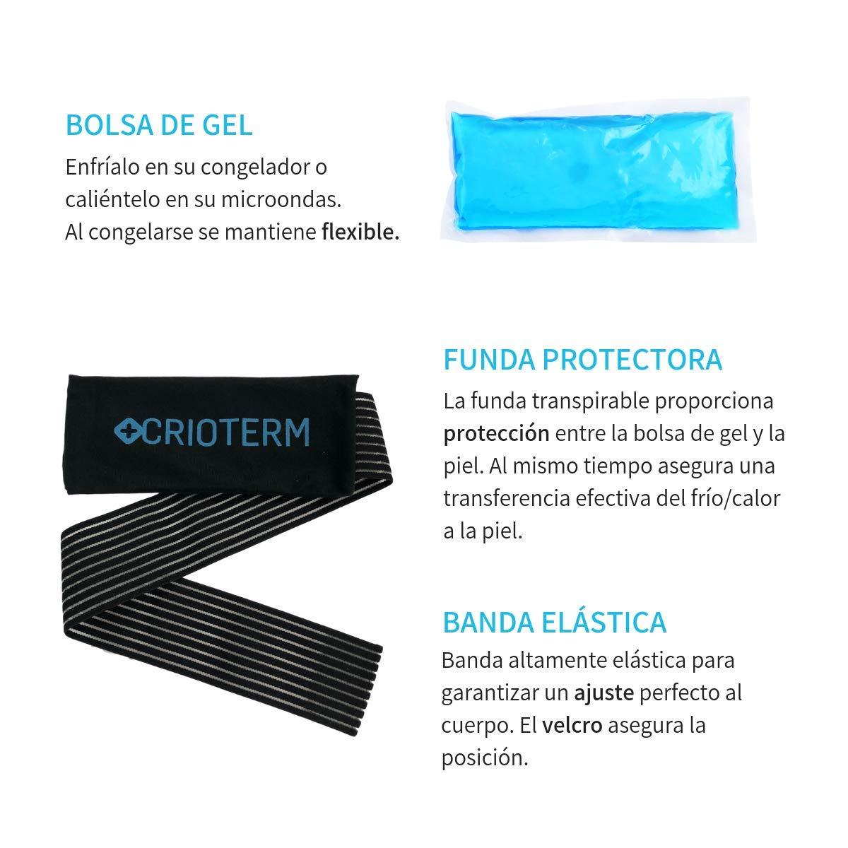 CRIOTERM - Bolsa de gel + banda multiuso reutilizable ...