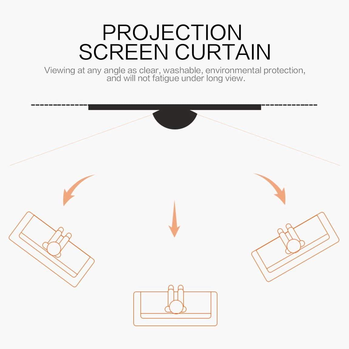 SeniorMar Schermo da proiezione da 40 pollici non tessuto per tende bianco morbido portatile per sala conferenze KTV Home Theater