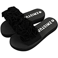 👀Slippers Pantoufles l'été Femme honestyi Les Femmes Flower Été Sandales Pantoufle Indoor - Outdoor Tongs Chaussures de Plage
