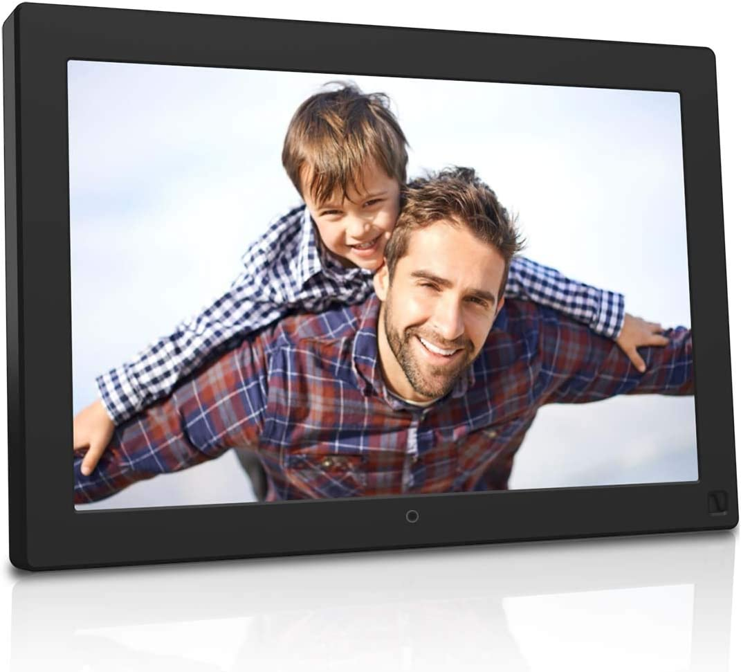 BSIMB Digital Photo Frame Digital Picture Frame 10.1 Inch 1280×800 IPS Screen with Motion Sensor Auto Rotate Music Video Playback Remote Control,Support 32GB USB Drive SD Card M10 None WiFi