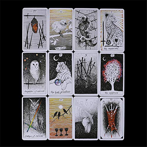 MonLiya 78Pcs/Set- Wild Unknown Tarot Deck Universal Mysterious Future Telling Game Card Set with Colorful Box Guessing Board Game Gift Poker Desk Toys by MonLiya (Image #2)