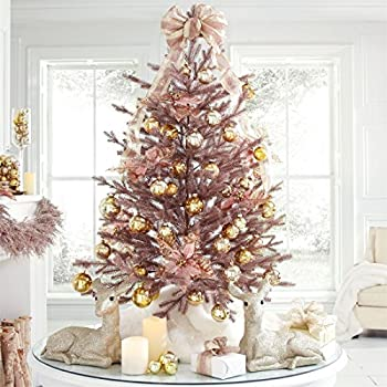 Amazon.com: BrylaneHome 4' Rose Gold Christmas Tree (Rose ...
