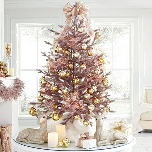 Gold Christmas Tree (Brylanehome 4' Rose Gold Christmas Tree (Rose Gold,0))