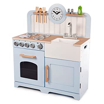 Amazon.com: John John Tidlo Wooden Country Play Kitchen ...