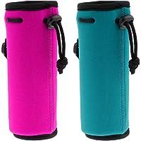 simhoa 2Pcs Neoprene Water Bottle Shoulder Carrier Insulated Bag Holder Drink Case