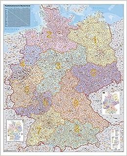 Postleitzahlen Karte Deutschland.Deutschland Postleitzahlenkarte Amazon De Stiefel Eurocart