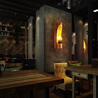 Retro Bambus Wand Lampe Industrie Garten Dekoration Lampe Seeksung Bar Cafe  Natur Holz Umwelt Einzigen Kopf