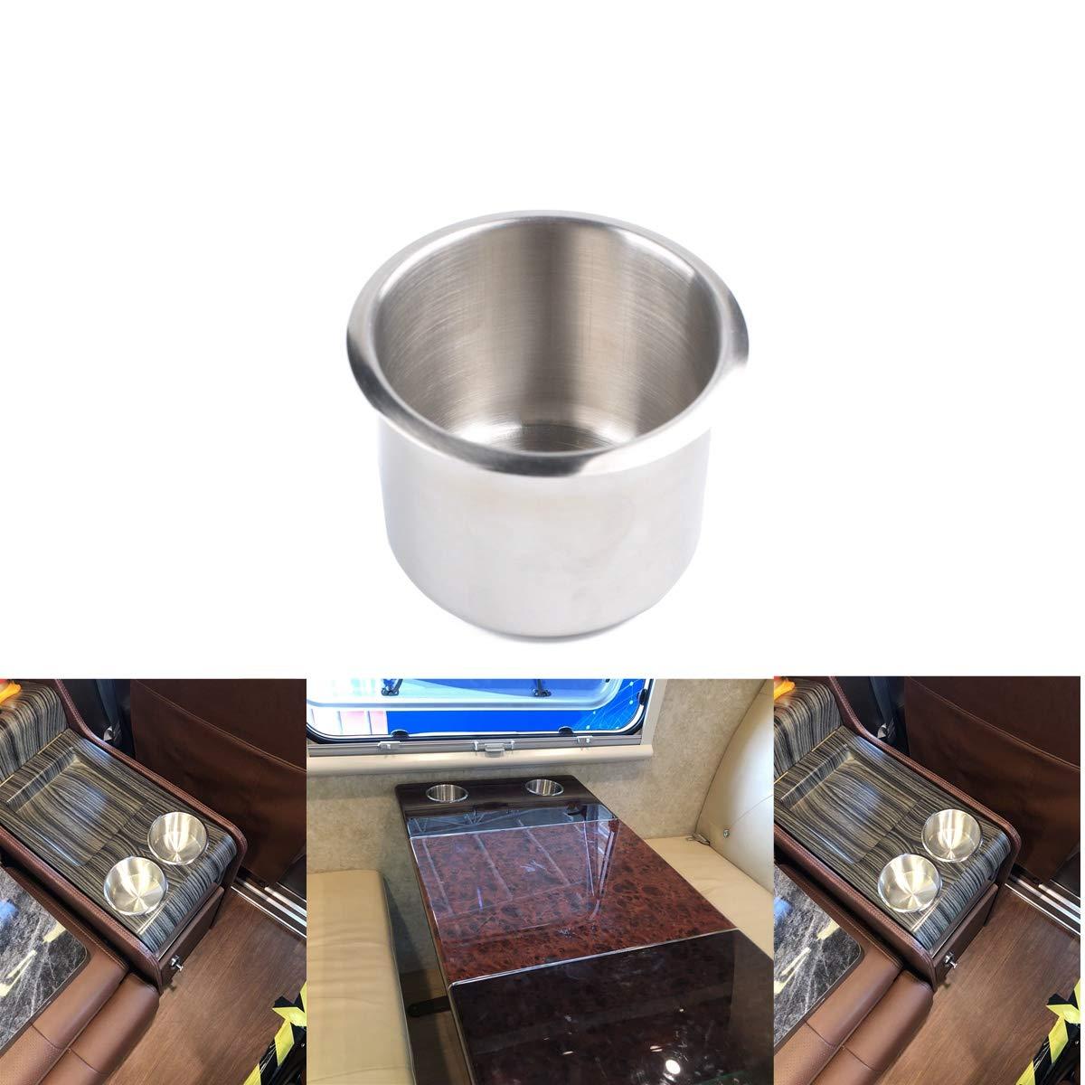 6,8 X 5,5 Cm Semoic 10 Solo Portabicchieri per Bicchieri da Barca Portabevande nel Acciaio Inossidabile