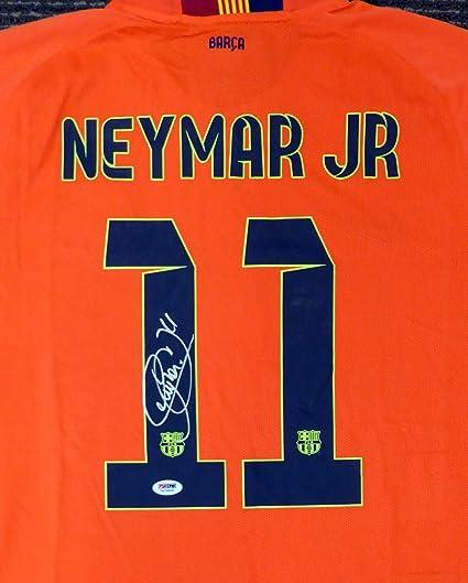 newest fe36a a32bb Neymar Jr. Signed Auto Barcelona Qatar Airways Nike ...